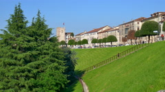 Bassano del Grappa - The Martyrs Avenue in summer Stock Footage