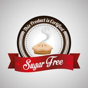 Sugar free design. candy concept. sweet icon, editable vector Stock Illustration