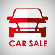 Car sale design. sale concept. white background - stock illustration