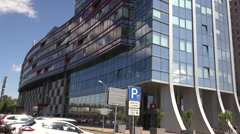 Main office building of buisness complex New Teika, Latvia, Riga Stock Footage
