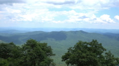 Blue ridge mountains tennessee TN Stock Footage
