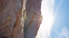 MoCo Pan Time Lapse of Sunset at Desert in Valley of Fire State Park -Vertical- Stock Footage