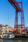 The Bizkaia suspension bridge in Portugalete, Spain Stock Photos
