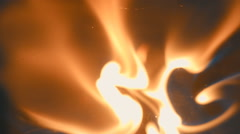 Sparks from flint from a set of survival is fall down and ignites the gasoline Stock Footage