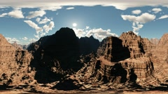 panoramic of canyon timelapse. made with the one 360 ​​degree lense camera - stock footage
