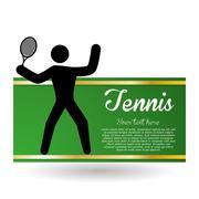 Tennis design. Sport icon. Isolated illustration, editable vector Stock Illustration