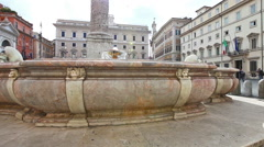 Piazza Colonna square Rome Stock Footage