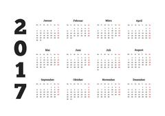 Simple calendar on german language Piirros