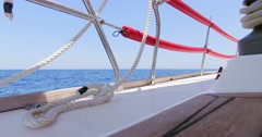 Detail of sails boat from bottom point of view. Stock Footage