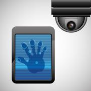 Security system design. protection icon. Isolated illustration - stock illustration