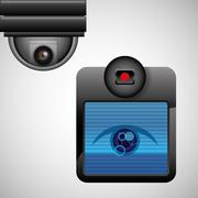 Security system design. protection icon. Isolated illustration Stock Illustration