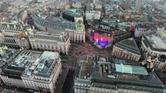 Aerial Stock Footage Orbiting Piccadilly Circus London, England 4K Stock Footage