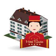 Hotel design. travel icon. Isolated and flat illustration - stock illustration