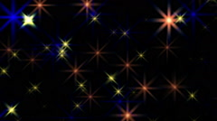 Beautiful Multicolored Stars Flickering Blinking Background Stock Footage