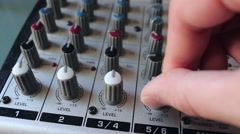 Tweaking Knobs On A Mixer Stock Footage