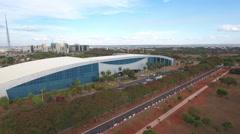 Aerial Olympic Committee Building Brasilia - DF Stock Footage