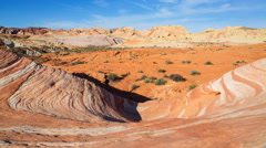 Time Lapse of Fire Wave at Valley of Fire State Park in Nevada -Tilt Up- Stock Footage