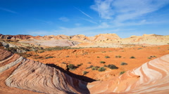 Time Lapse of Fire Wave at Valley of Fire State Park in Nevada -Tilt Down- Stock Footage