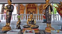 Buddha in the entrance of a temple in Chiang Mai, Thailand. Zoom in. Stock Footage