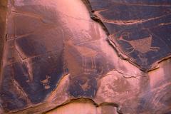 Anasazi Petroglyphs Monument Valley Utah Stock Photos