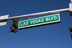 Las Vegas Blvd Road Sign Stock Photos
