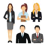 Woman and Man avatar icon. Businesspeople design. Vector graphic Stock Illustration