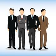 Man avatar icon. Businesspeople design. Vector graphic Stock Illustration