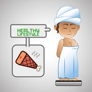 Healthy food design. Healthy lifestyle icon. Flat illustration Piirros