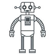 Toy robot icon Stock Illustration