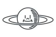 Cute planet saturn icon Piirros
