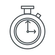 Chronometer line icon Stock Illustration