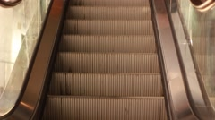 Escalator steps moving up Stock Footage