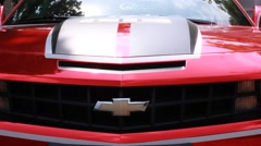 Red Chevrolet Camaro Car Stock Footage