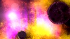 Deep space interstellar background Stock Footage