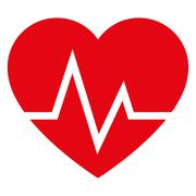Heart and cardiogram icon Stock Illustration