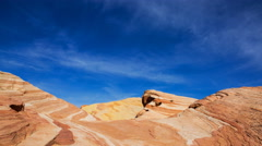 Time Lapse of Sand Dune Fossile at Valley of Fire State Park, Nevada -Tilt Down- Stock Footage