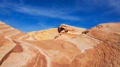 Time Lapse of Sand Dune Fossile at Valley of Fire State Park, Nevada -Pan Left- Stock Footage