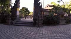 Bali Pura Tirtha Water Temple Entrance Stock Footage