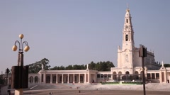 Fátima sanctuary, basilica of our lady of the rosary, portugal Stock Footage
