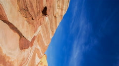 Timelapse of Sand Dune Fossile at Valley of Fire State Park, Nevada Vertical/Pan Stock Footage