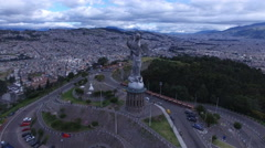 In the Face of the Virgin of Quito Stock Footage
