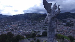 Next to the Virgin of Quito Stock Footage
