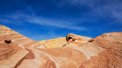 Time Lapse of Sand Dune Fossile at Valley of Fire State Park in Nevada  Stock Footage
