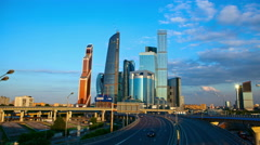 Moscow International Business Center. Stock Footage