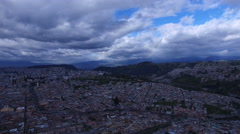 Old Quito towards the Virgin of Quito Stock Footage