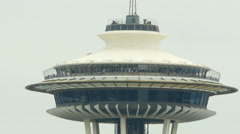 Space Needle, Gray, ECU, Seattle Stock Footage