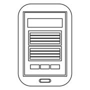 Cellphone with button icon Stock Illustration