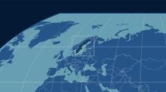 Sweden - 3D tube zoom (Kavrayskiy VII projection). Solids Stock Footage
