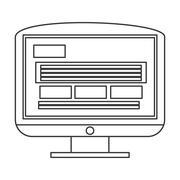 computer monitor icon - stock illustration