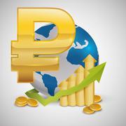 Global economy design. money icon. isolated illustration - stock illustration